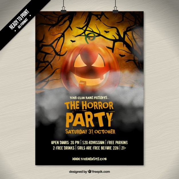 Horror Halloween Party plakat