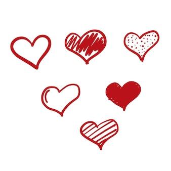 Ikona miłości doodle
