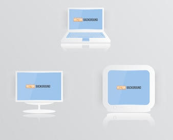 Ikona monitora wektorowe niebieski