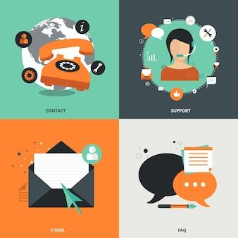 Ikony dla sieci i telefonów komórkowych