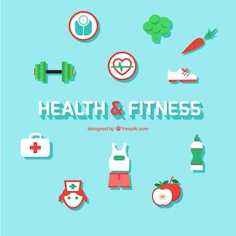 Ikony zdrowie i fitness
