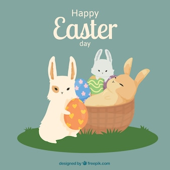 Ilustracja cute Easter Day