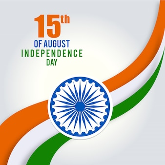 Ilustracja indyjska flaga trójkolorowa 15 sierpnia