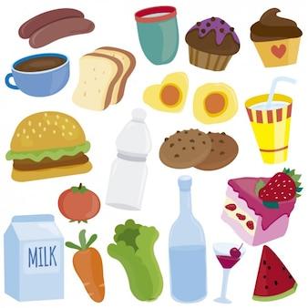 Ilustracje Żywność