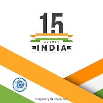 Indie niezależności tle flagi