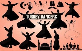 Indyka sylwetki tancerzy