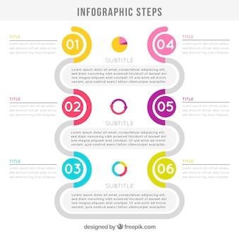 Infograficzne kroki tle