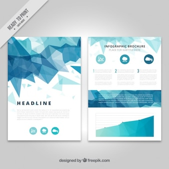 Infografika na geometrycznej broszury