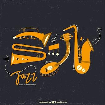 Instrumenty muzyczne jazz