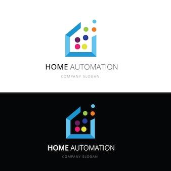 Inteligentny dom logo.home i domowy logo technologii szablon logo.