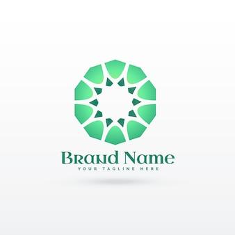 Islamski wzór kształtu koncepcji projektu logo