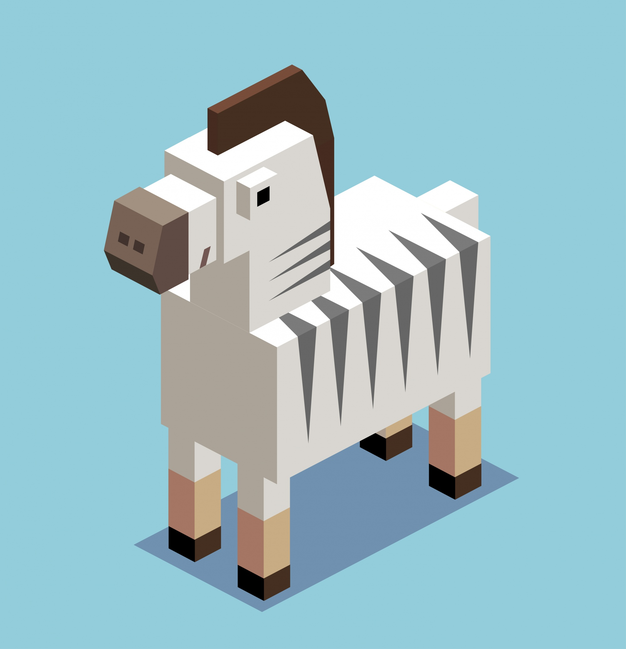 Isometric zebra design