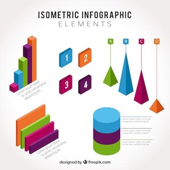 Izometryczne elementy infograficzne