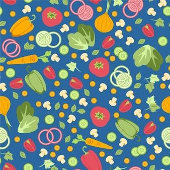 Jednolite wzór z warzywami