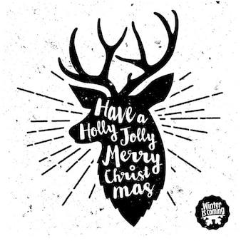 Jeleń Boże Narodzenie w tle