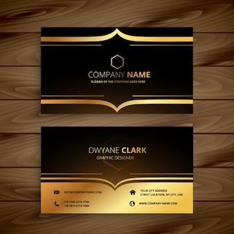 Karta luksus biznes w złotym stylu