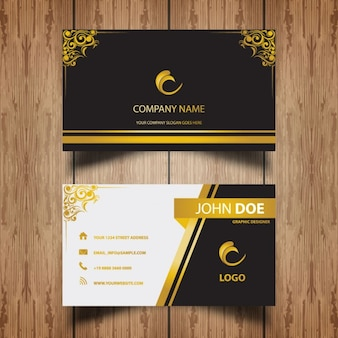 Karta luksusowy obiekt ze złotymi ramkami ornament