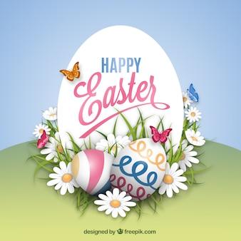 Karta Wielkanoc w stylu wiosennym
