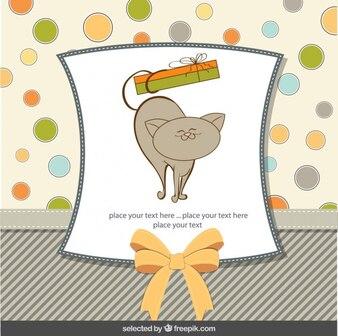 Karta z pozdrowieniami z cute kotów