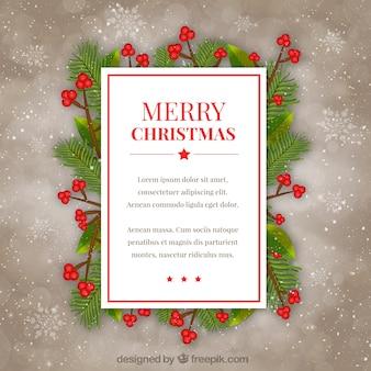 Kartki świąteczne na tle śniegu