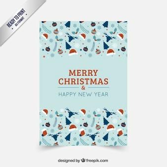 Kartki świąteczne w kolorze czerwonym i turkusowym tonów