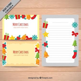 Kartki świąteczne z ozdobami