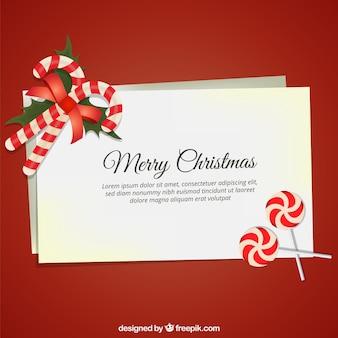 Kartki świąteczne ze słodyczami