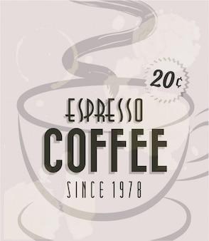 kawy espresso plakat