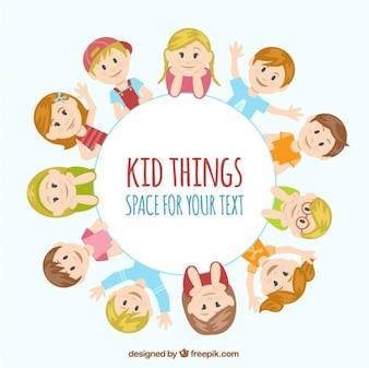 Kid rzeczy Ilustracja