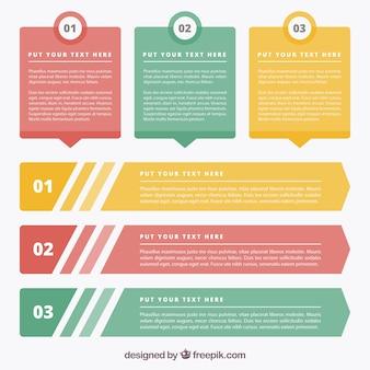 Klasyczna kolekcja banerów infograficznych