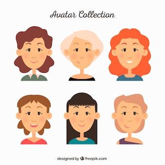 Kobieta kolekcja awatarów
