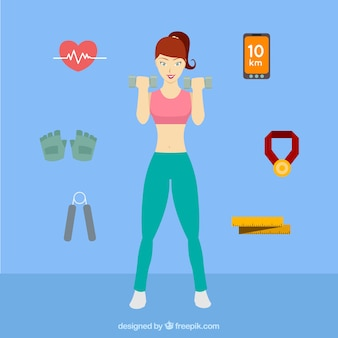 Kobieta robi fitness