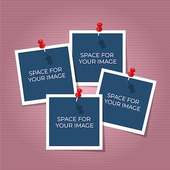 Kolaż zdjęć polaroid