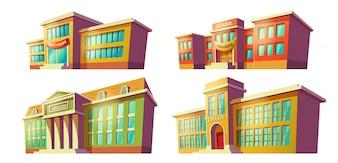 Kolekcja budynków szkolnych