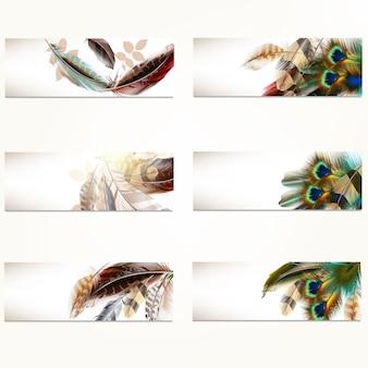 Kolekcja dekoracyjne banery