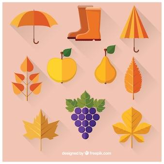 Kolekcja elementów jesiennych