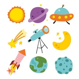 Kolekcja elementów kosmosu