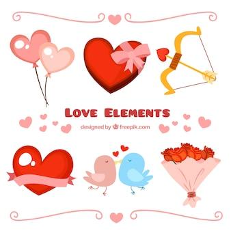 Kolekcja elementów miłości