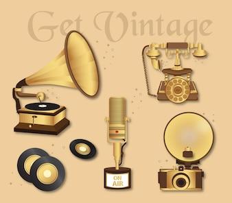 Kolekcja elementów vintage