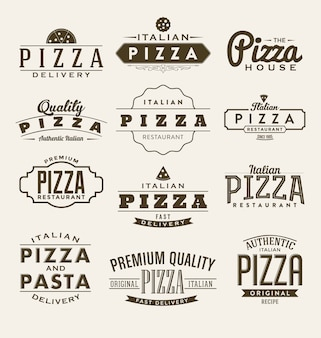 Kolekcja etykiet Pizza