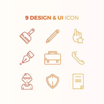 Kolekcja ikon interfejsu użytkownika