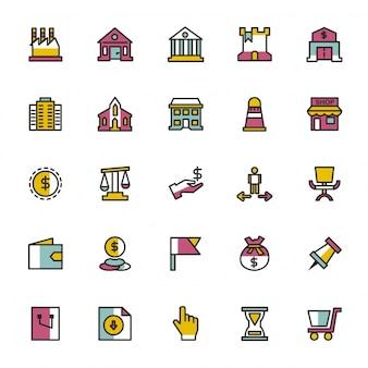 Kolekcja ikon zakupów