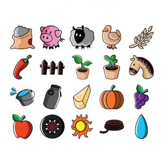 Kolekcja ikony Farm