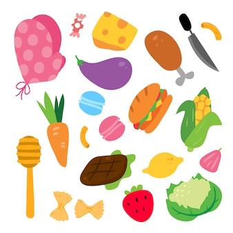 Kolekcja ilustracji żywności