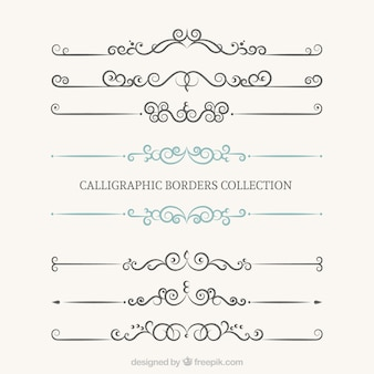 Kolekcja kaligraficzne bordes
