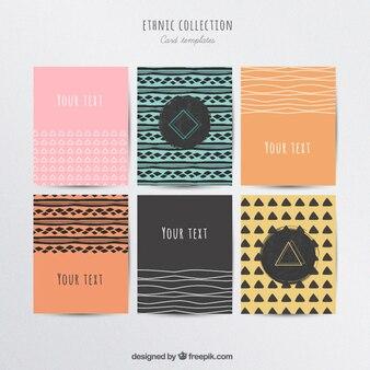 Kolekcja kart etniczne