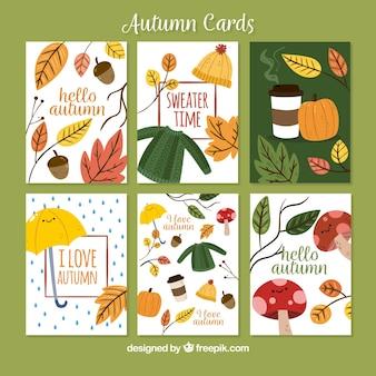 Kolekcja kart jesieniowych