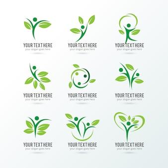 Kolekcja logo ekologia