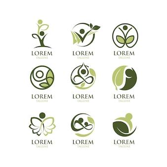Kolekcja logo ekologiczne