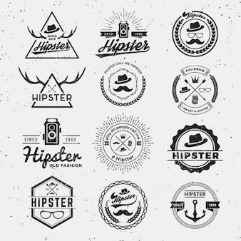 Kolekcja logo hipster